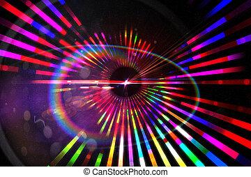 digitalmente gerado, laser, fundo
