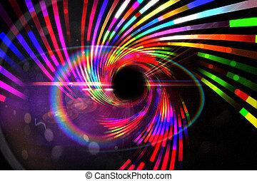 digitalmente, laser, fundo, gerado