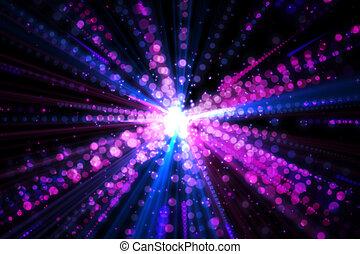 digitalmente, laser, plano de fondo, generar