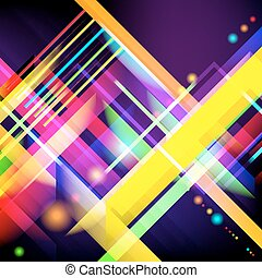 digitalmente, luz colorida, imagen, generar, stripes.