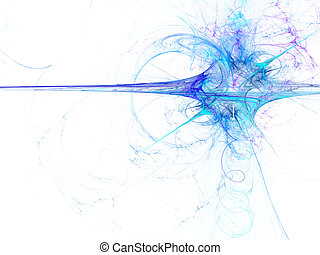 digitalmente, representado, abstratos, azul, explodindo,...