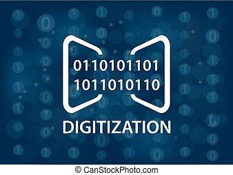 Digitization concept vector illustration. Digital background...