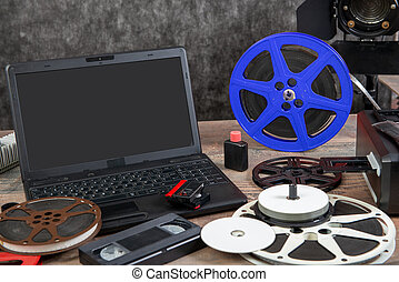 digitizing old 16 mm film with a laptop