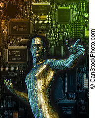 Digitrom - 3D rendering of a cybernetic man