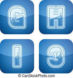 Digits & capital letters