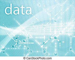 Digits data illustration