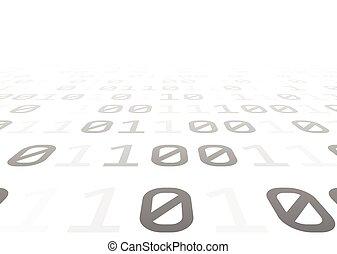 digits., fond, gris, binaire