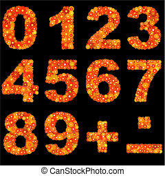 Digits made of flowers