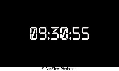 Digits on black background, real timer from 0 to 23 seconds.