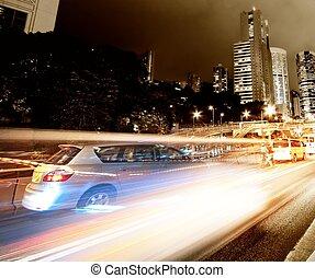 digiuno, spostamento, automobili, notte