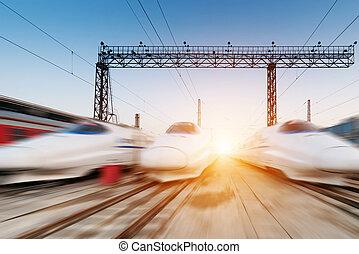 digiuno, spostamento, treno
