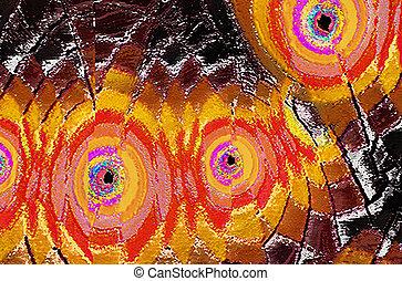 Multicolored Artistic Texture
