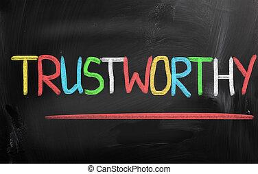 digne confiance, concept