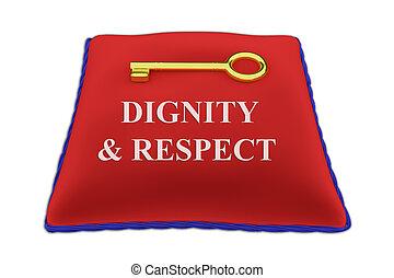 dignité, concept, respect
