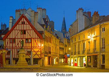 Dijon at night