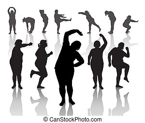 dik, vrouwen, 12, figuren