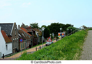 Dike-houses of the Dutch village Colijnsplaat
