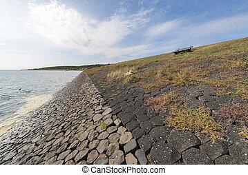 Dike on the island of Vlieland