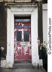 Dilapidated Entrance - Old dilapidated doorway in need of a...