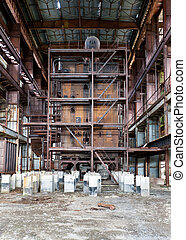 Dilapidated old boiler house
