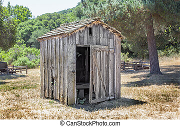 Dilapidated Outhouse in the American West.