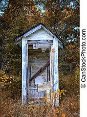 Dilapidated Outhouse in the Rural Wisconsin Countryside