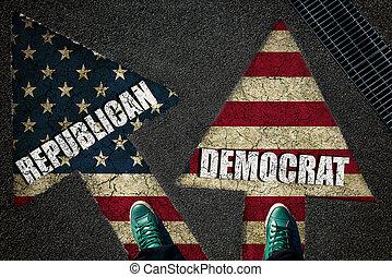 Dilemma concept democrat and republican