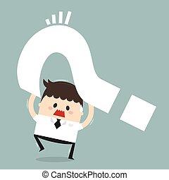 Dilemma of businessman, flat design, business concept