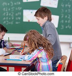 Diligent schoolchildren