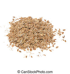 Dill Seeds Isolated on White Background