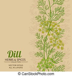 dill vector background - dill vector pattern on color  ...