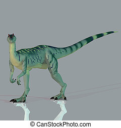 Dilophosaurus - Rendered Image of a Dinosaur - with Clipping...