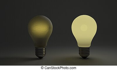 Dim Bulb With Bright Bulb Good Looking