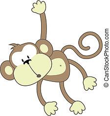 dim monkey - isolated cartoon monkey, individual objects ...