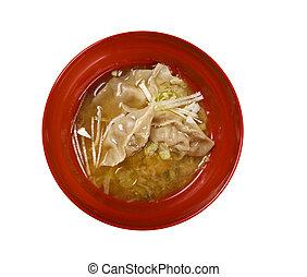 Dim-sum call Gyoza, asian tradition food.