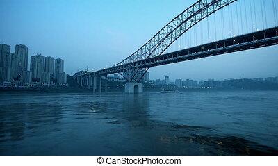 dimensionaal, china, verkeer, chongqing