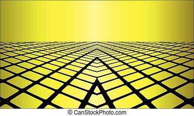 dimensionaal, gele, drie, achtergrond
