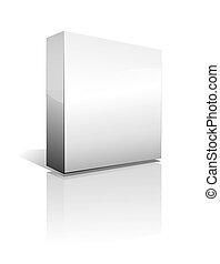 dimensional, caixa, sombra, três