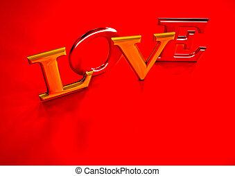 Dimensional inscription of LOVE