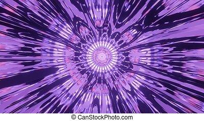 Purple Lighted Calming Reflection Tunnel 4k uhd 3d rendering vj loop