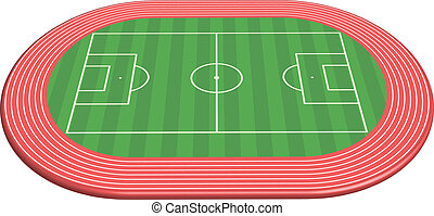 dimensionale, campo, 3, lancio football