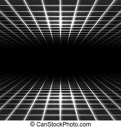 dimensionale, spazio, griglia