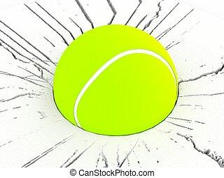 dimensionale, tennis, tre, palla