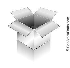 dimensionnel, boîte, ombre, trois