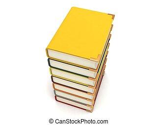 dimensionnel, carambolage, livres, trois