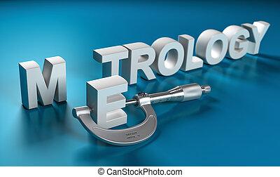 dimensionnel, metrology, concept, mesure