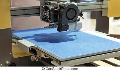 dimensionnel, plastique, imprimante, trois, 3d