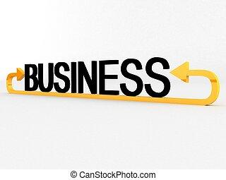 dimensionnel, texte, trois, business