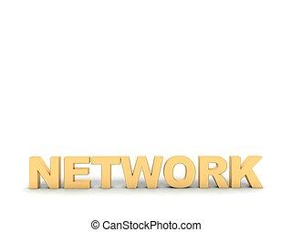 dimensionnel, texte, trois, réseau