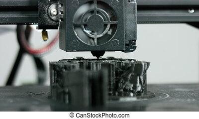 dimensionnel, travail, trois, pendant, imprimante, plastique